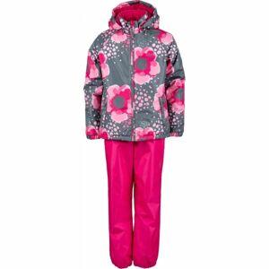 Lewro PAZ červená 140-146 - Dětský set bunda + kalhoty