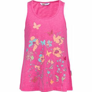 Lewro QUINTELLA růžová 116-122 - Dívčí tílko