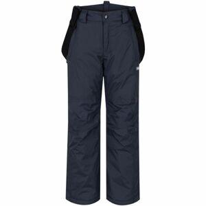 Loap FIDOR tmavě šedá 146 - Dětské zimní kalhoty