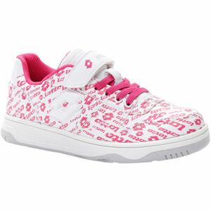 Lotto BASKETLOW AMF II LOGO CL SL bílá 33 - Dívčí volnočasové boty
