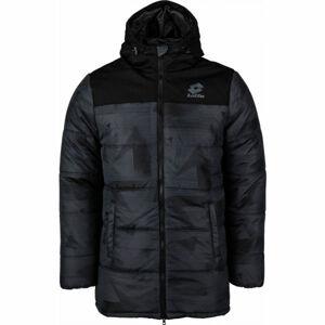 Lotto JACKET CERVINO PAD HD PRT 2 PL tmavě šedá XXL - Pánská zimní bunda