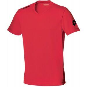 Lotto JERSEY TEAM EVO JR červená M - Dětský fotbalový dres