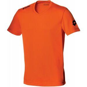 Lotto JERSEY TEAM EVO SS oranžová XXL - Pánský fotbalový dres