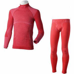 Mico KIDS SHIRT + TIGHT PANTS WARM  104-116 - Bezešvé funkční spodní prádlo