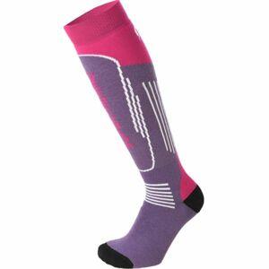 Mico SUPERTHERMO JR fialová M - Dětské lyžařské ponožky
