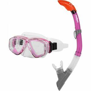 Miton PONTUS LAKE růžová NS - Juniorský potápěčský set