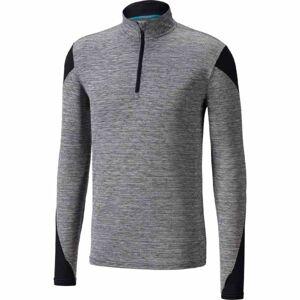 Mizuno ALPHA LS HZ šedá M - Pánské běžecké triko s dlouhým rukávem