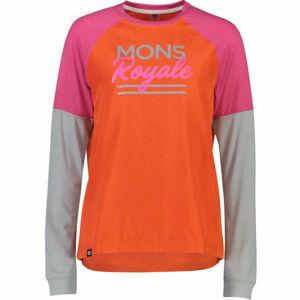 MONS ROYALE TARN FREERIDE LS WIND růžová S - Dámské technické triko s dlouhým rukávem
