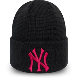 New Era MLBWMNS LEAGUE ESSENTIAL CUFF KNIT NEW YORK YANKEES černá UNI - Dámská klubová zimní čepice