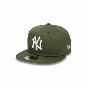 New Era 9FIFTY ESSENTIAL NEW YORK YANKEES tmavě zelená S/M - Pánská kšiltovka