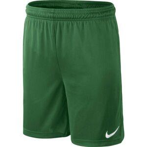 Nike PARK KNIT SHORT YOUTH zelená L - Dětské fotbalové trenky