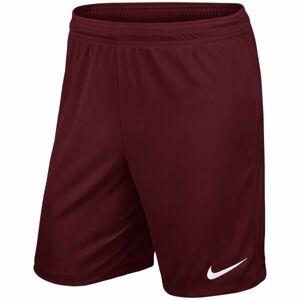 Nike YTH PARK II KNIT SHORT NB červená M - Chlapecké fotbalové kraťasy