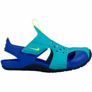 Nike SUNRAY PROTECT 2 PS zelená 1 - Dětské sandály