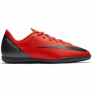 Nike CR7 JR VAPORX 12 CLUB IC červená 4 - Chlapecké sálovky
