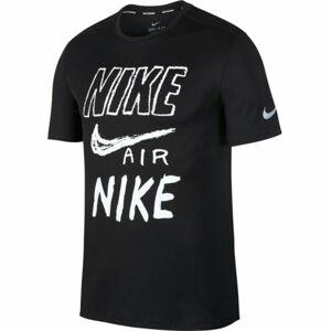 Nike BRTHE RUN TOP SS GX černá L - Pánské běžecké triko