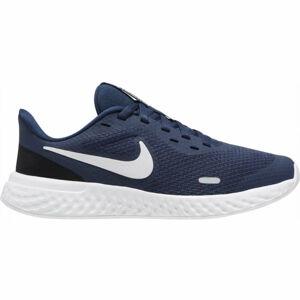 Nike REVOLUTION 5 (GS) tmavě modrá 5.5 - Dětská běžecká obuv