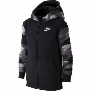 Nike NSW FZ CLUB AOP2 černá S - Chlapecká mikina