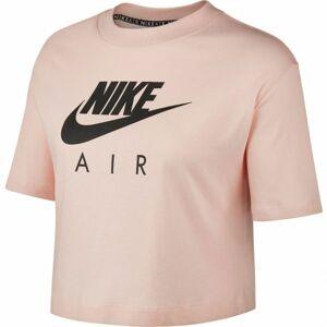 Nike NSW AIR TOP SS oranžová XL - Dámské tričko