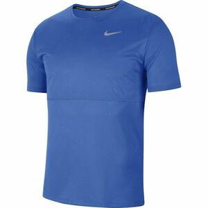 Nike BREATHE RUN TOP SS M modrá L - Pánské běžecké tričko