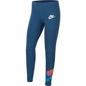 Nike NSW FAVORITES FF LEGGING modrá S - Dívčí legíny