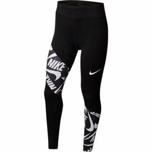 Nike TROPHY TIGHT FG G černá S - Dívčí legíny