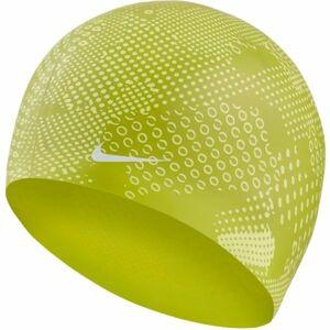 Nike OPTIC CAMO SILICONE CAP zelená NS - Plavecká čepice