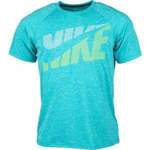 Nike HEATHER TILT modrá M - Pánské tričko do vody