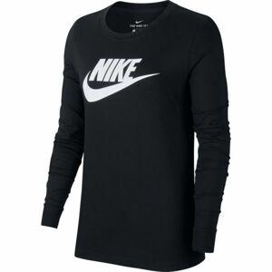 Nike NSW TEE ESSNTL LS ICON FTRA černá S - Dámské triko