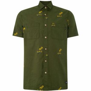 O'Neill LM PALM AOP S/SLV SHIRT tmavě zelená L - Pánská košile