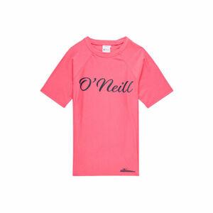 O'Neill PG LOGO S/SLV SKINS růžová 10 - Dívčí tričko