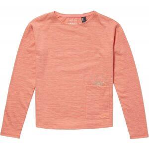 O'Neill LG RISE & SURF L/SLV T-SHIRT oranžová 128 - Dívčí triko s dlouhým rukávem