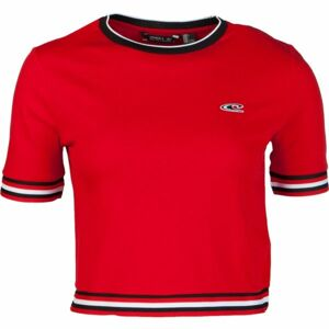 O'Neill LW SPORT STRIPE RIB TEE červená L - Dámské tričko