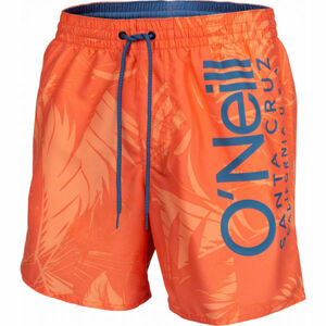 O'Neill PM CALI FLORAL SHORTS oranžová M - Pánské kraťasy do vody