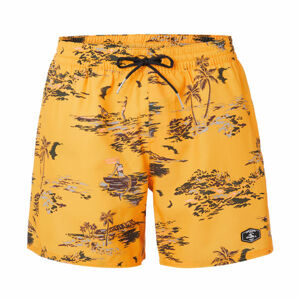 O'Neill PM TROPICAL SHORTS žlutá S - Pánské šortky do vody