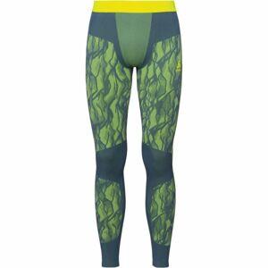 Odlo SUW MEN'S BOTTOM PERFORMANCE BLACKCOMB tmavě zelená L - Pánské funkční kalhoty