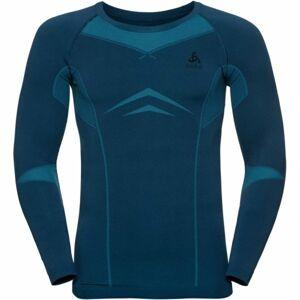 Odlo SUW MEN'S TOP L/S CREW NECK PERFORMANCE EVOLUTION WARM modrá XL - Pánské triko
