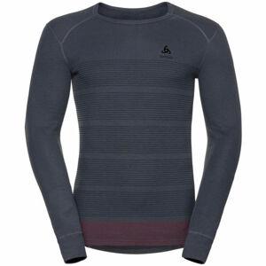 Odlo L/S CREW NECK GOD JUL PRINT  2XL - Pánské funkční tričko