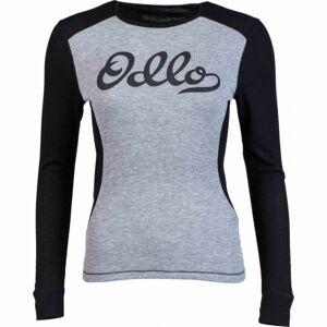 Odlo SUW WOMEN'S TOP L/S CREW NECK ORIGINALS WARM šedá L - Dámské funkční triko