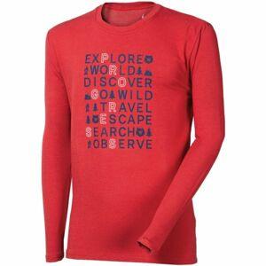 Progress VANDAL EXPLORE BAMBUS červená XXL - Pánské triko