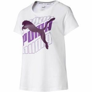 Puma MODERN SPORT GRAPHIC TEE bílá L - Dámské sportovní triko