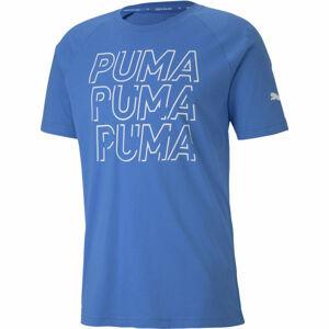 Puma MODERN SPORTS LOGO TEE modrá L - Pánské triko
