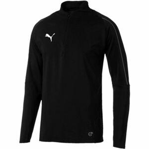 Puma FINAL TRAINING 1/4 ZIP TOP černá S - Pánské sportovní triko