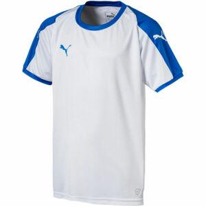Puma LIGA  JERSEY JR bílá 128 - Chlapecké triko