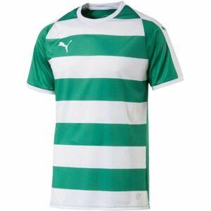 Puma LIGA JERSEY HOOPED zelená XL - Pánské sportovní triko