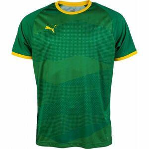 Puma KC LIGA JERSEY GRAPHIC zelená S - Pánský fotbalový dres