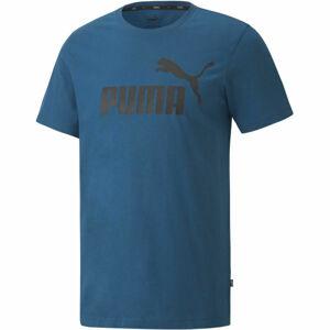 Puma ESS LOGO TEE červená XL - Pánské triko