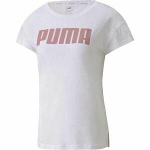 Puma ACTIVE LOGO TEE bílá M - Dámské sportovní triko