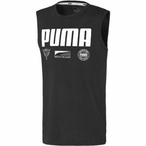 Puma ALPHA SUMMER SVEELESS TEE B černá 152 - Chlapecký sportovní nátělník