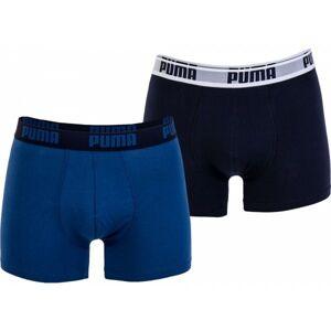 Puma BASIC BOXER 2P modrá S - Pánské boxerky