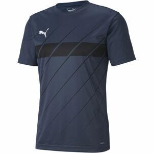 Puma FTBL PLAY GRAPHIC SHIRT tmavě modrá L - Pánské triko